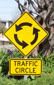 Traffic circle in Berkeley